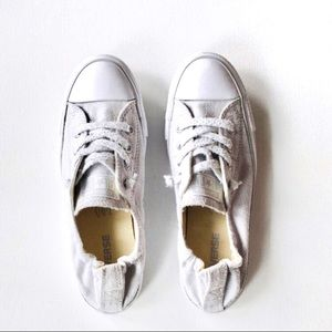 Converse raw look sneakers Size 8